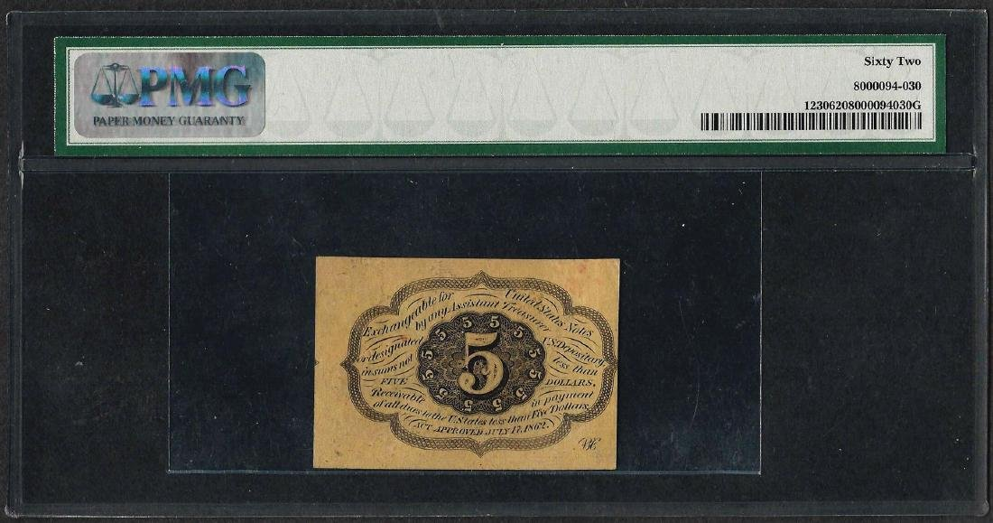 1862 First Issue 5 Cent Fractional Currency Note - 2