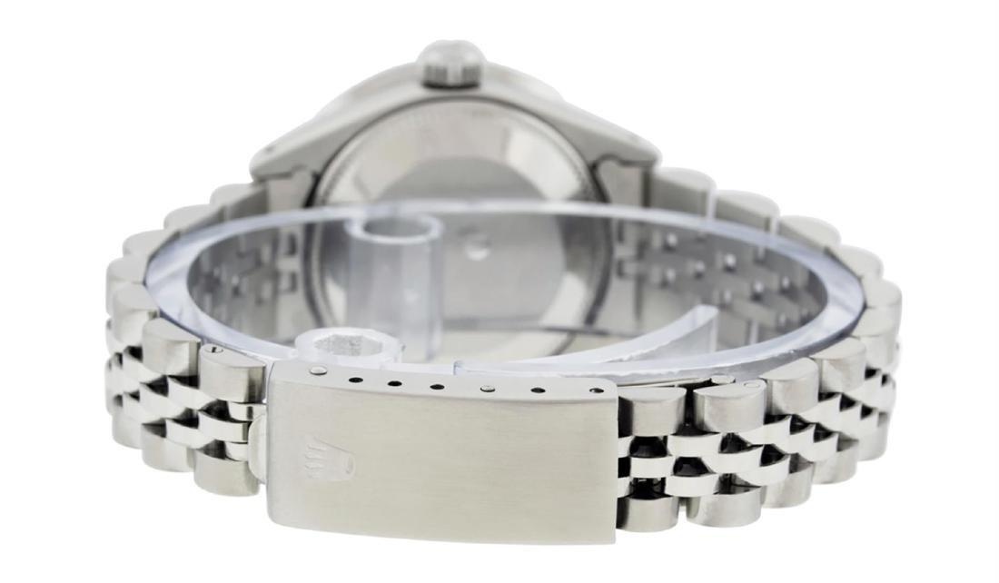 Rolex Ladies Stainless Steel MOP Emerald & Diamond - 7