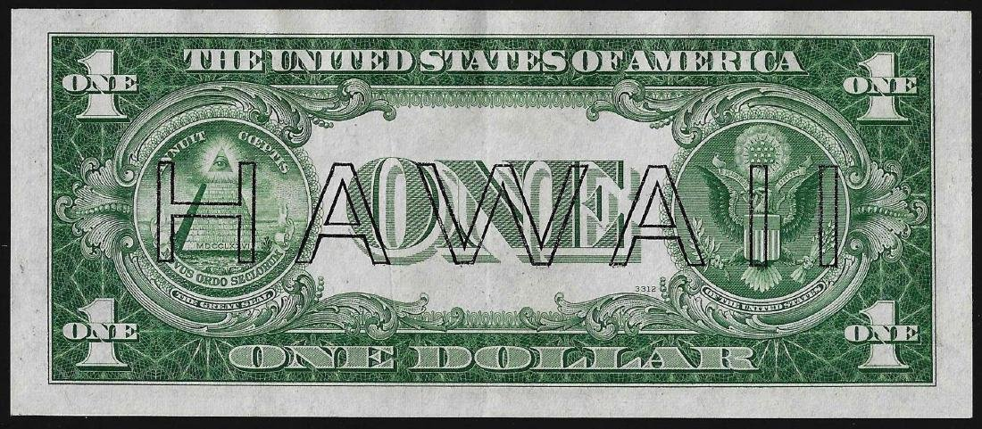 1935A $1 Hawaii Silver Certificate WWII Emergency Note - 2