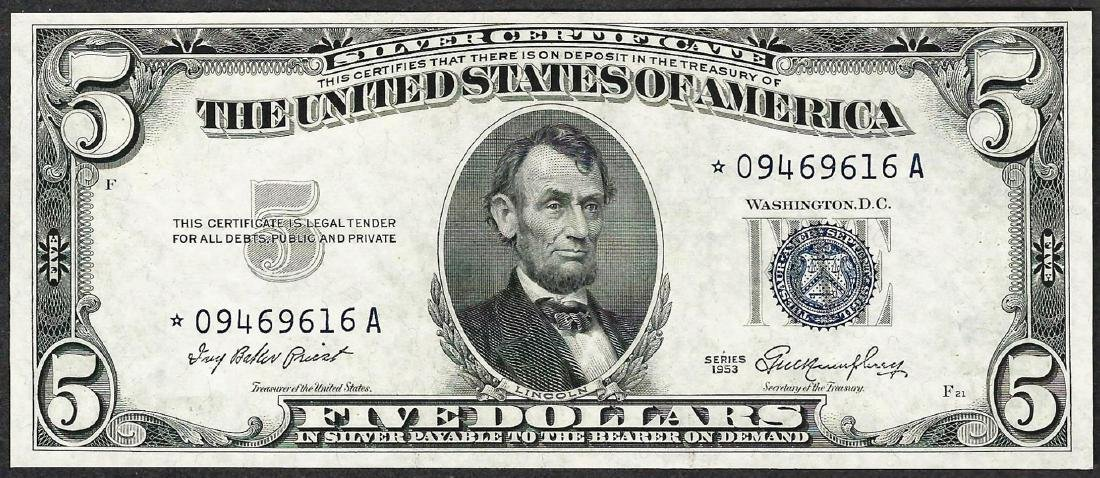 1953 $5 Silver Certificate STAR Note