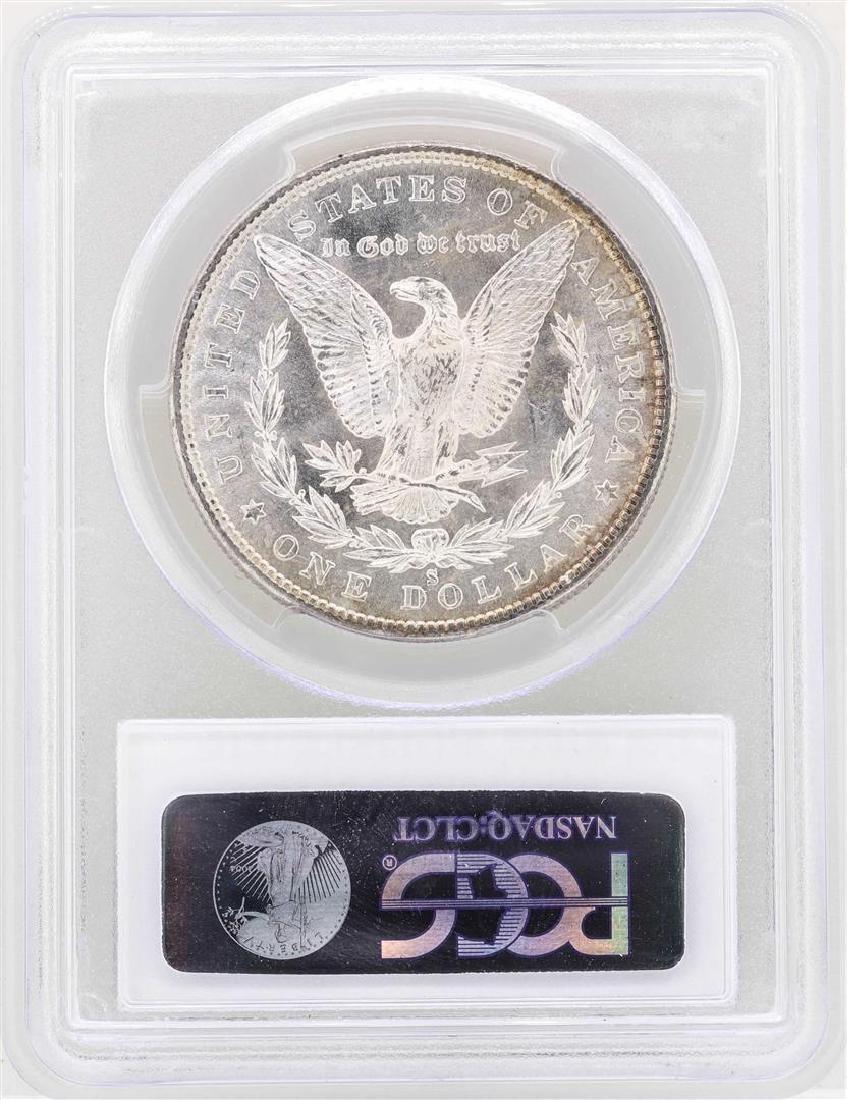 1880-S $1 Morgan Silver Dollar Coin PCGS MS63 - 2