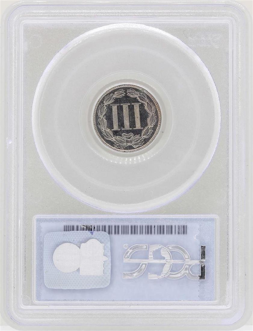 1883 3 Cent Nickel Proof Coin PCGS PR65 - 2