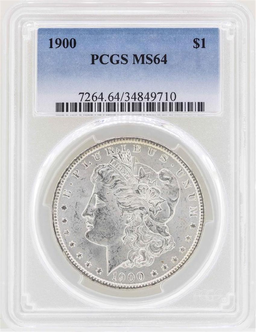 1900 $1 Morgan Silver Dollar Coin PCGS MS64