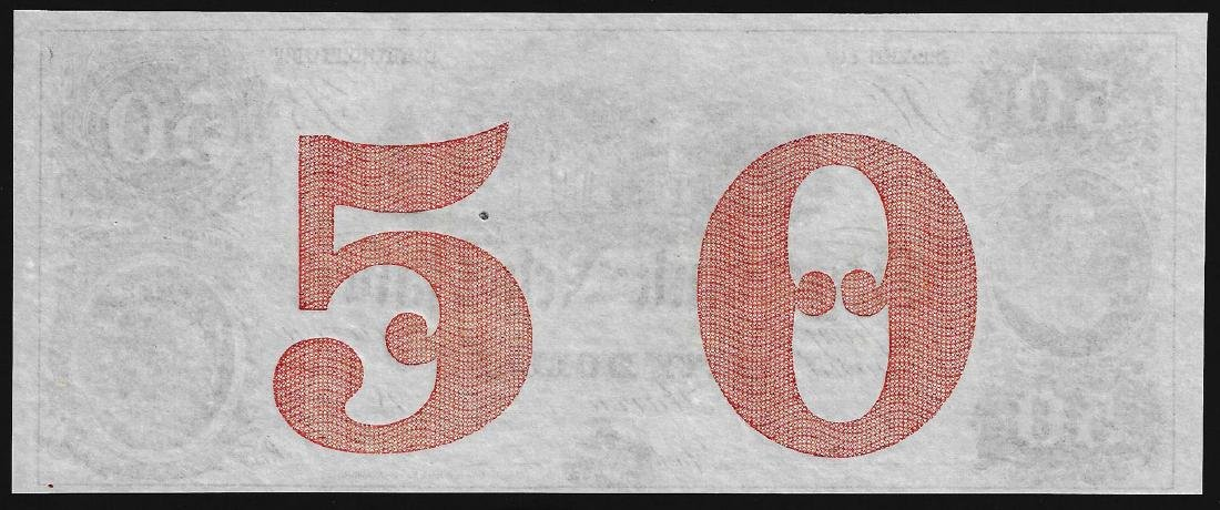 1800's $50 City Bank of New Haven Obsolete Note - 2