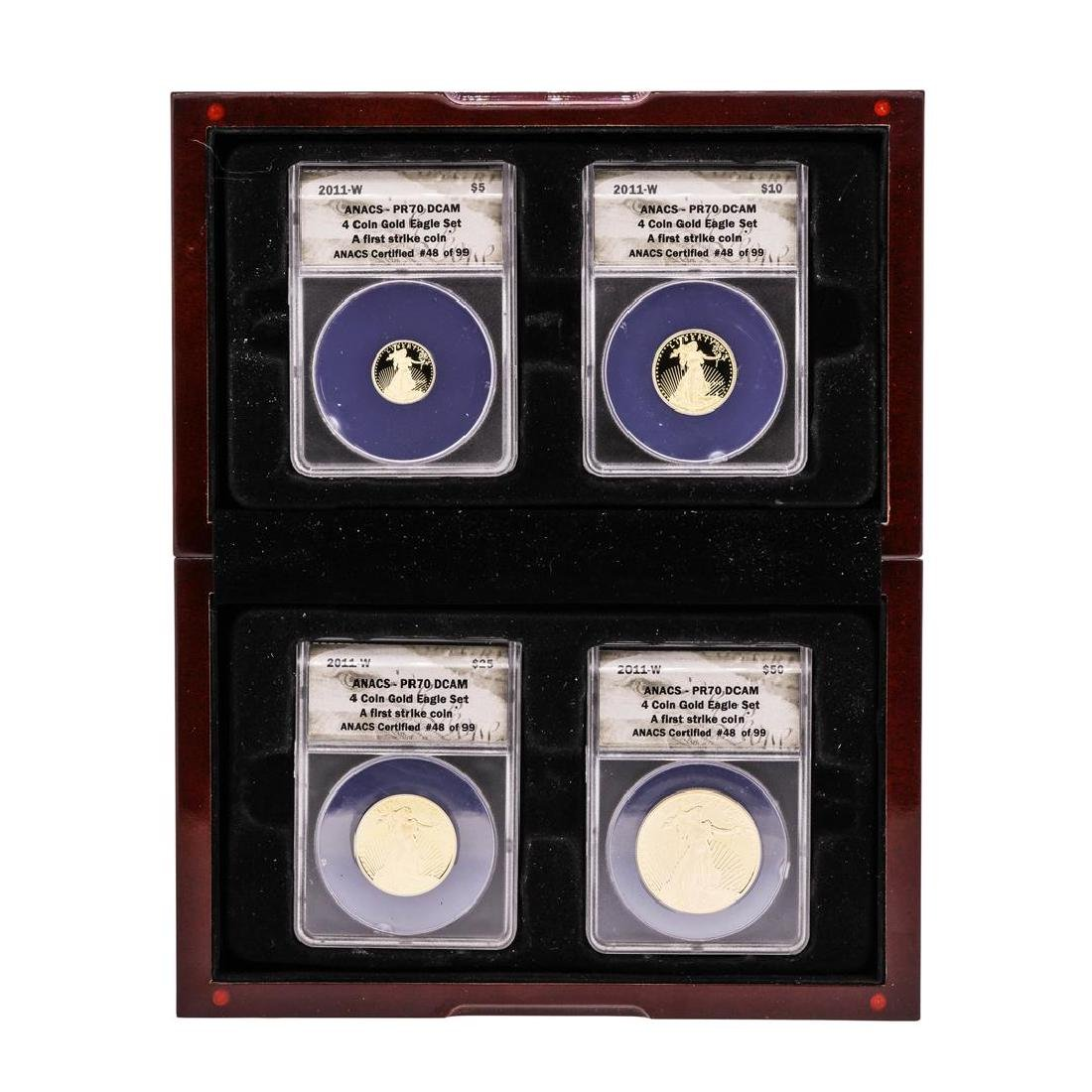 2011-W American Gold Eagle (4) Coin Proof Set ANACS
