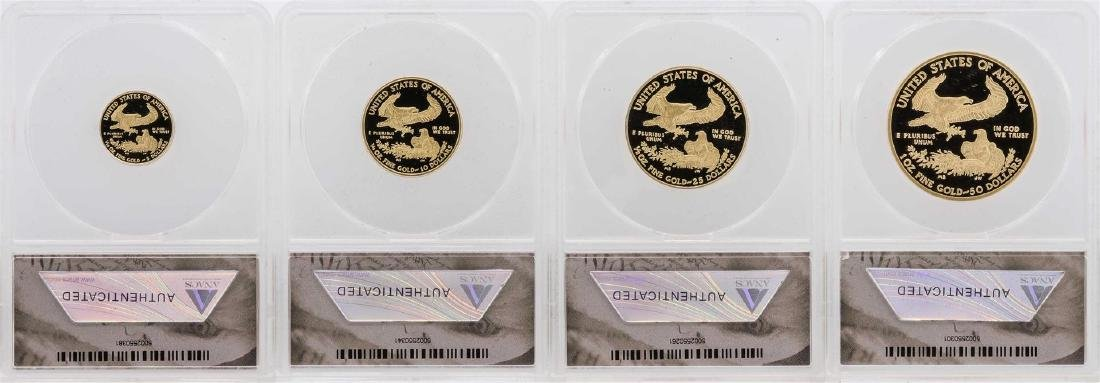 2011-W American Gold Eagle (4) Coin Proof Set ANACS - 3