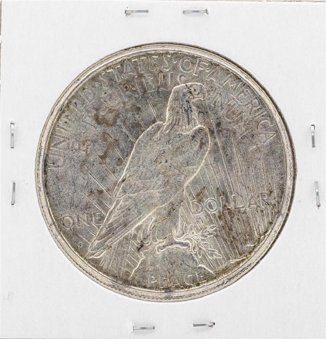 1925-S $1 Peace Silver Dollar Coin - 2
