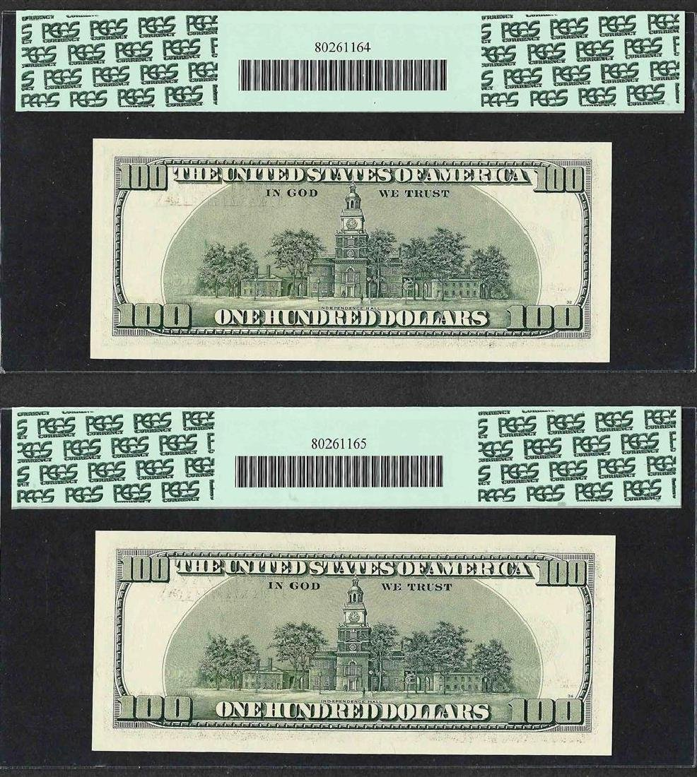 Lot of (2) Consecutive 2001 $100 Federal Reserve STAR - 2