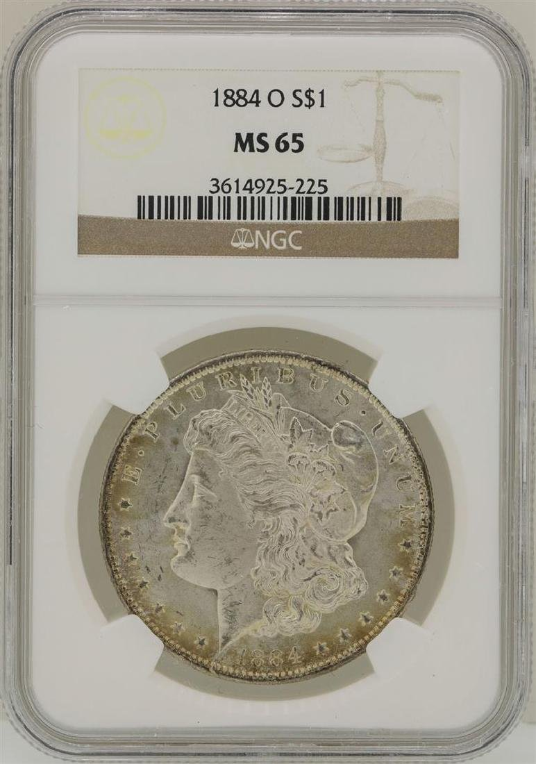 1884-O $1 Morgan Silver Dollar Coin NGC MS65 - 2