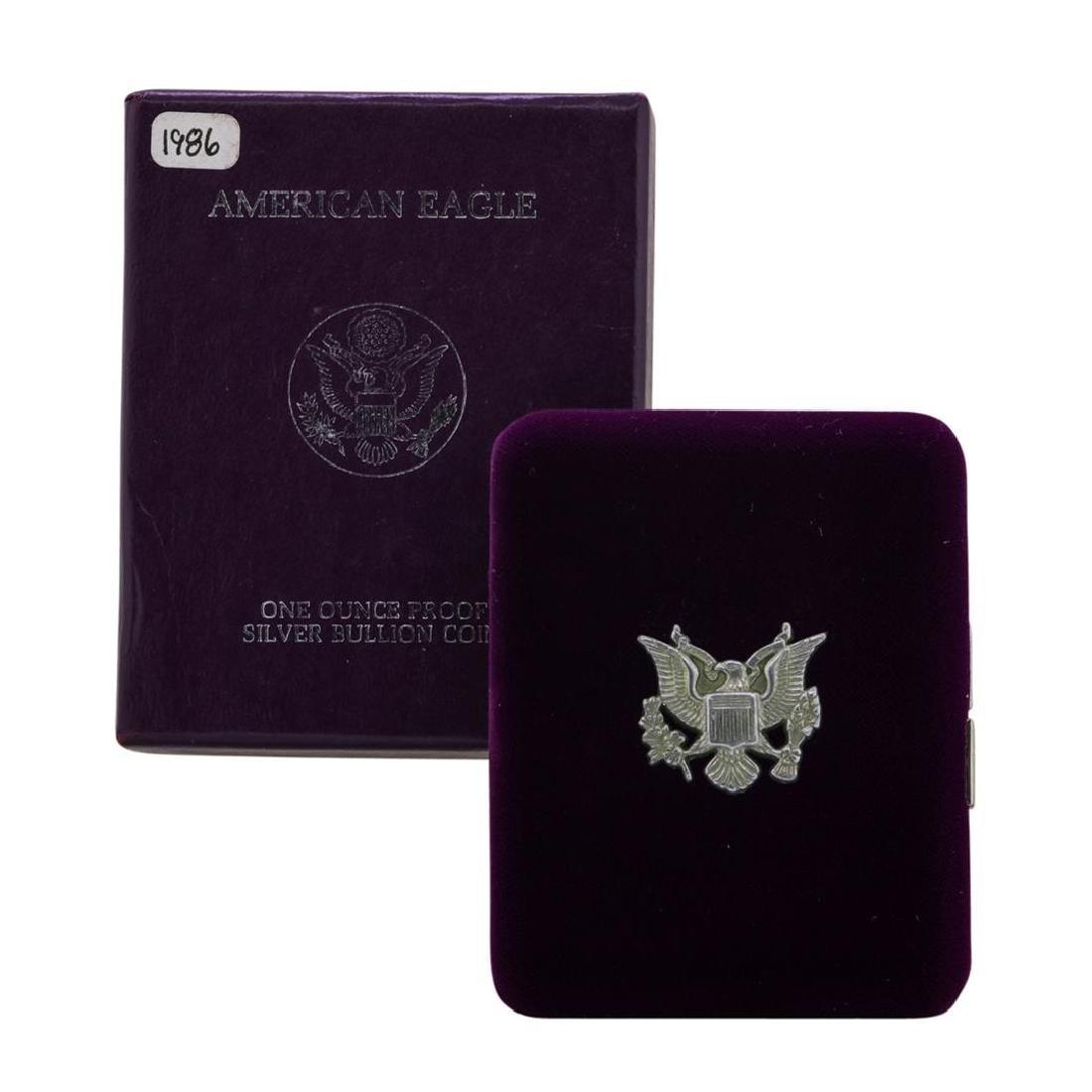 1986 $1 American Silver Eagle Proof Coin w/ Box - 3