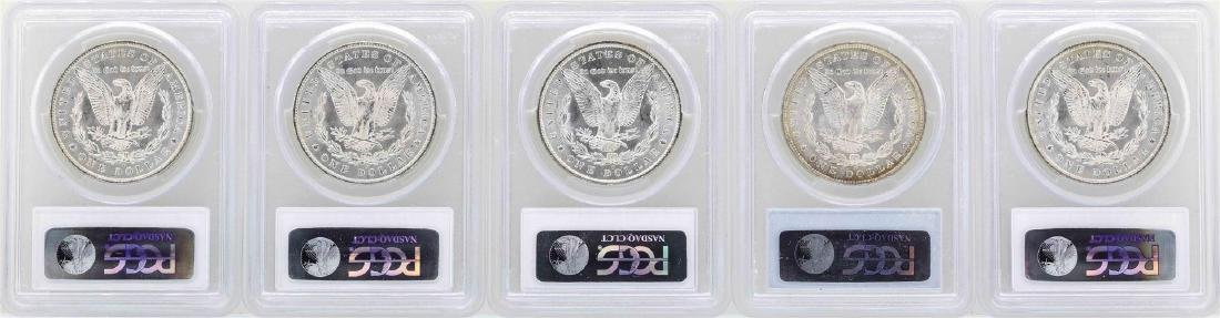 Lot of (5) 1885-O $1 Morgan Silver Dollar Coins PCGS - 2