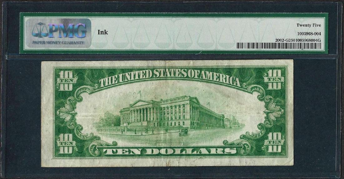 1928B $10 Federal Reserve Note Chicago Fr.2002-G PMG - 2