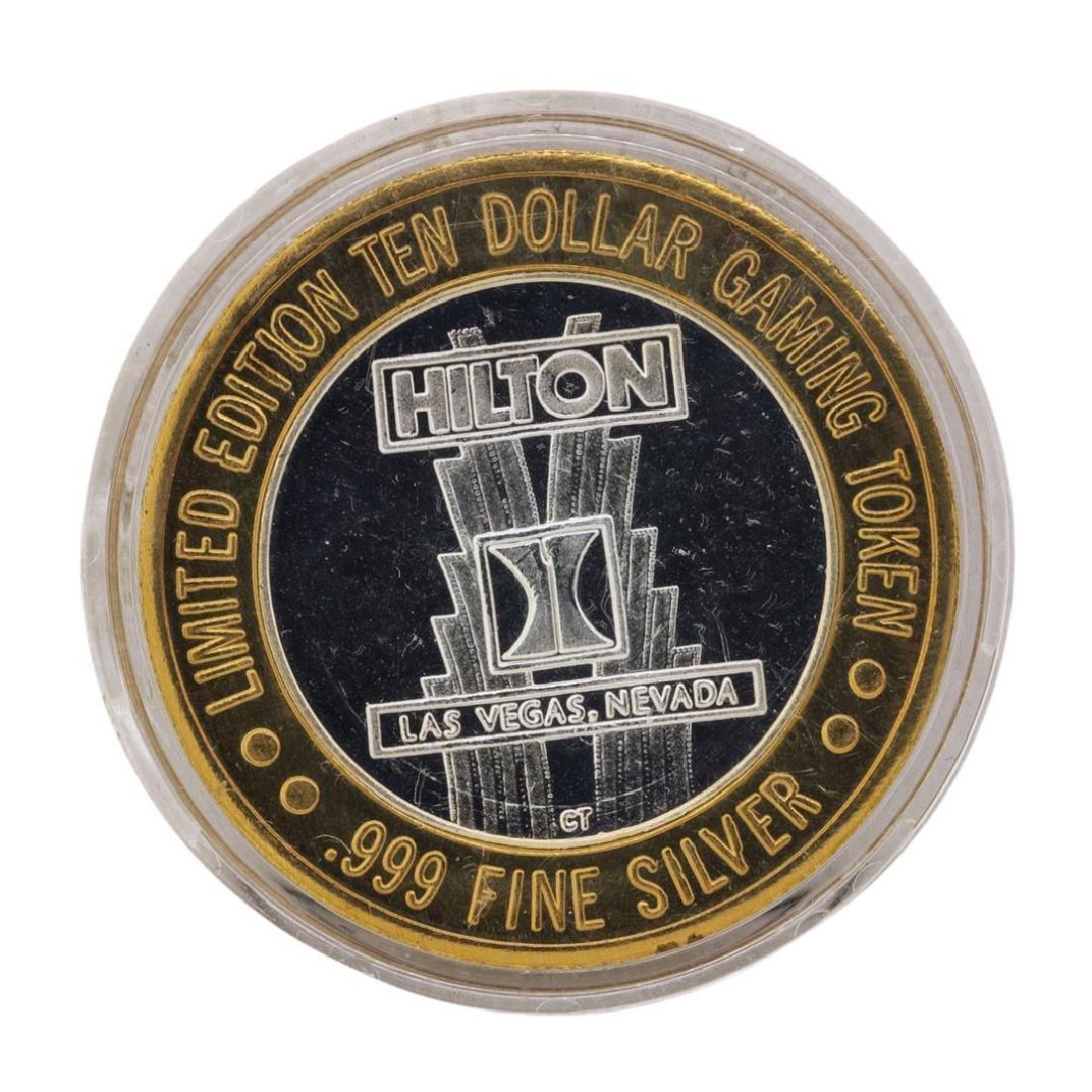 .999 Fine Silver Hilton Starlight Las Vegas $10 Casino