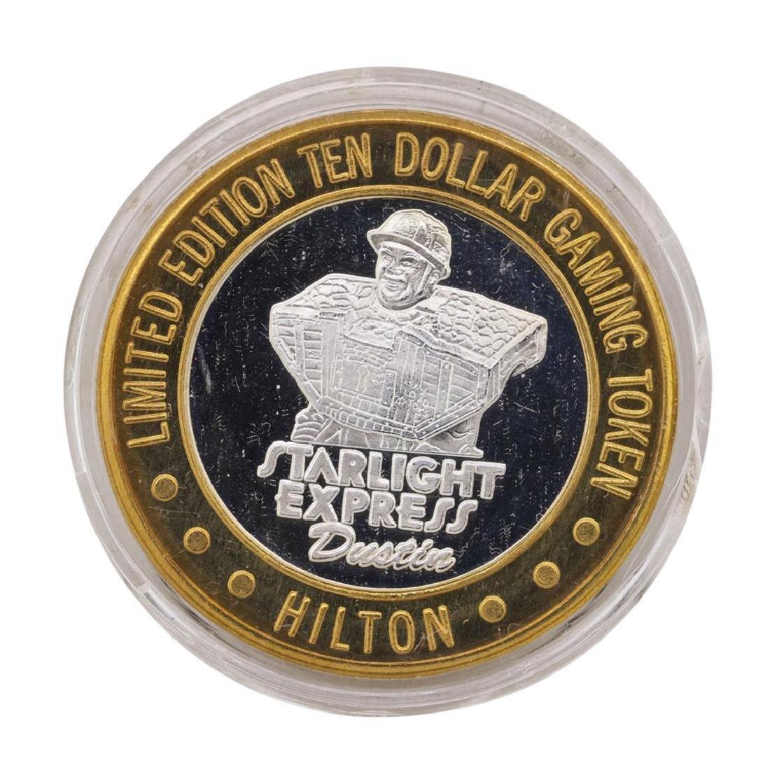 .999 Fine Silver Hilton Starlight Las Vegas $10 Casino - 2