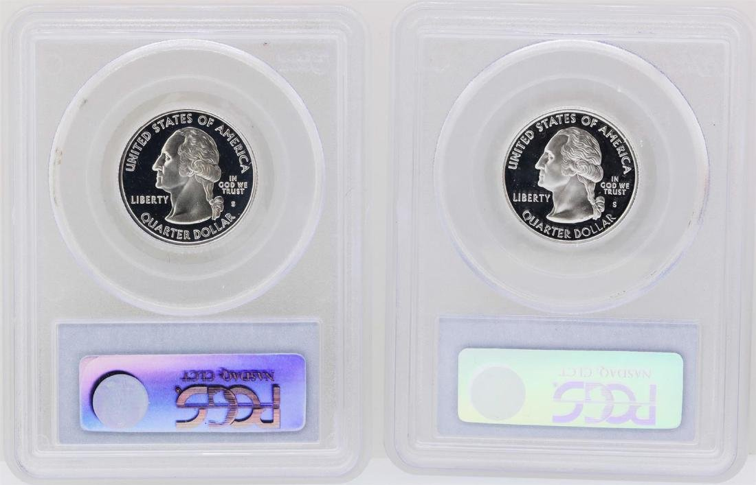 Lot of (2) 2001-S State Quarter Silver Coins PCGS - 2