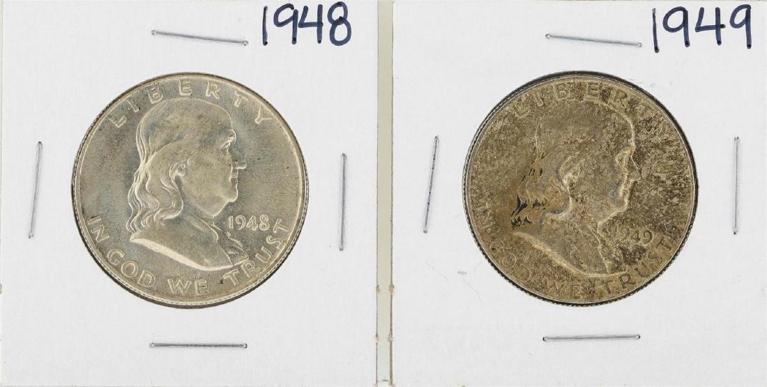 Lot of 1948-1949 Franklin Half Dollar Silver Coins