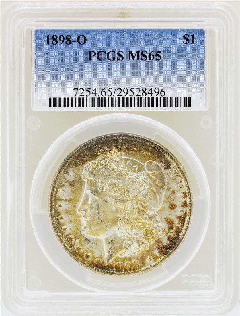 1898-O $1 Morgan Silver Dollar Coin PCGS MS65 Nice