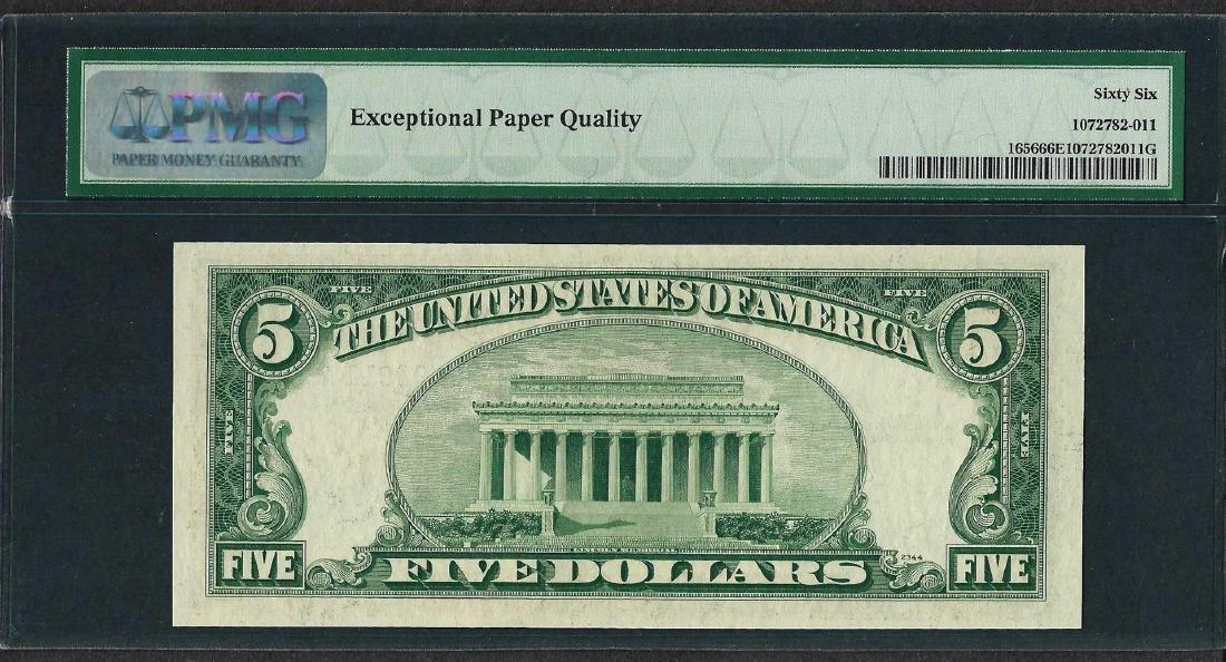1953A $5 Silver Certificate Note Fr.1656 PMG Gem - 2