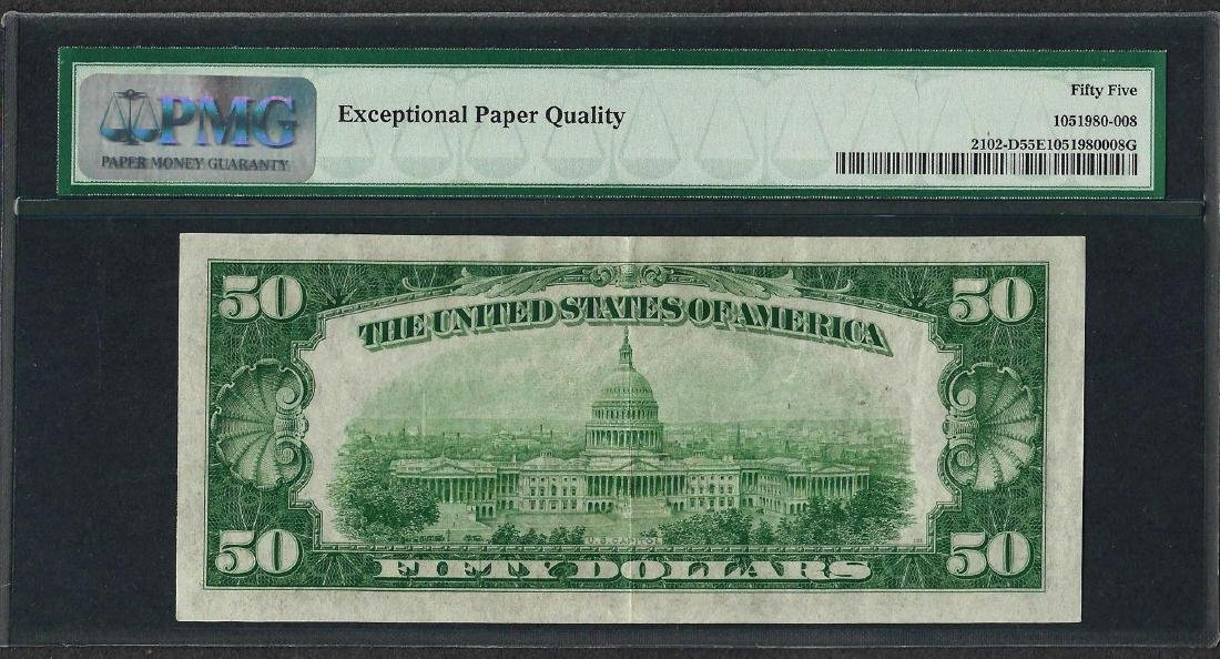 1934 $50 Federal Reserve Note Cleveland Fr.2102-D PMG - 2