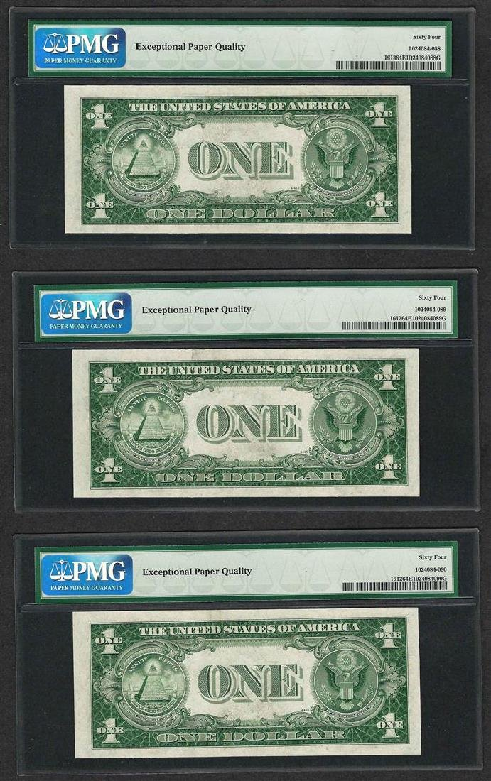 Lot of (3) Consecutive 1935C $1 Silver Certificate - 2