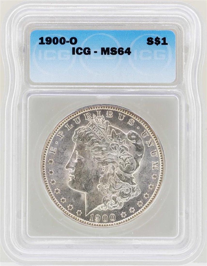 1900-O $1 Morgan Silver Dollar Coin ICG MS64