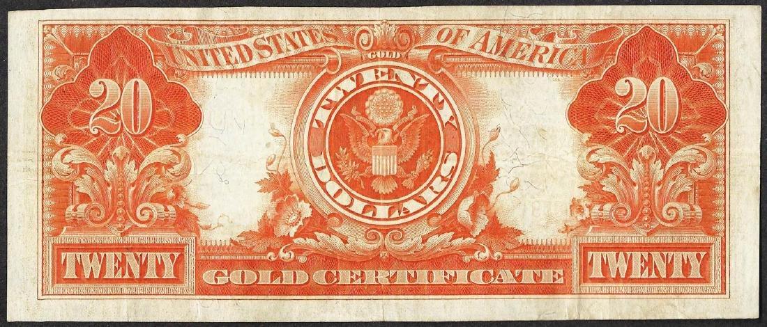 1922 $20 Gold Certificate Note - 2
