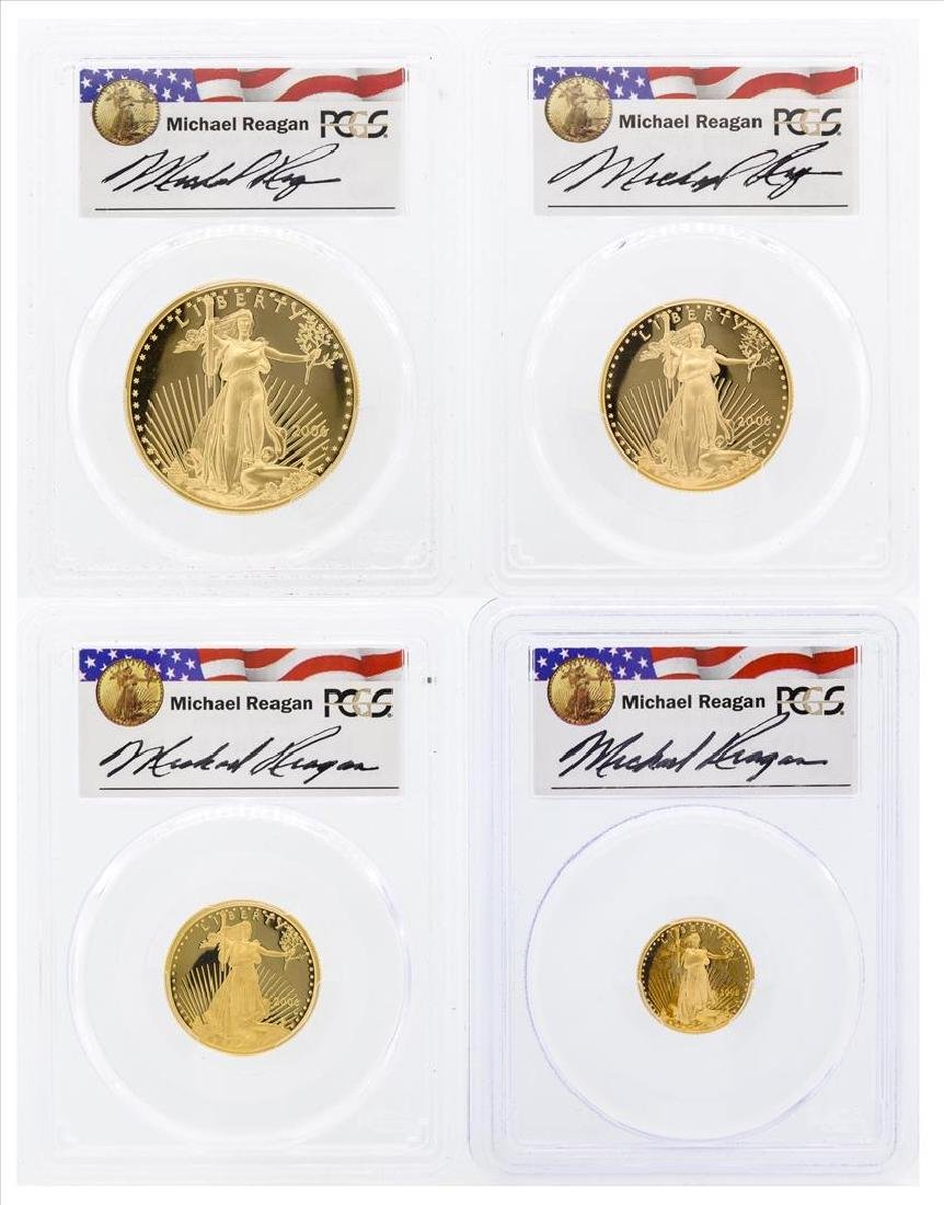 Set of (4) 2006-W 20th Anniversary American Gold Eagle