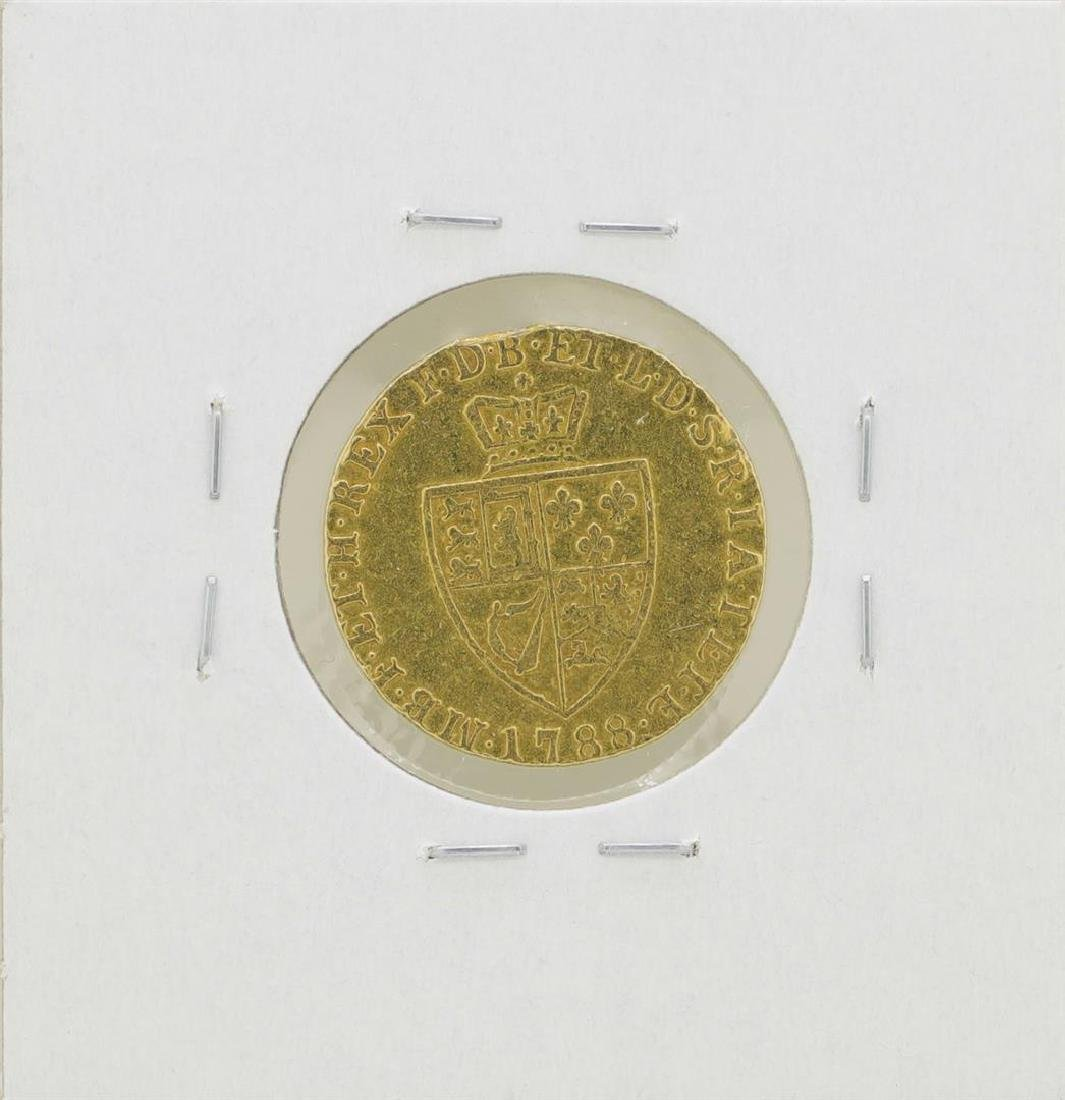 1788 Great Britain 1/2 Guinea Gold Coin - 2