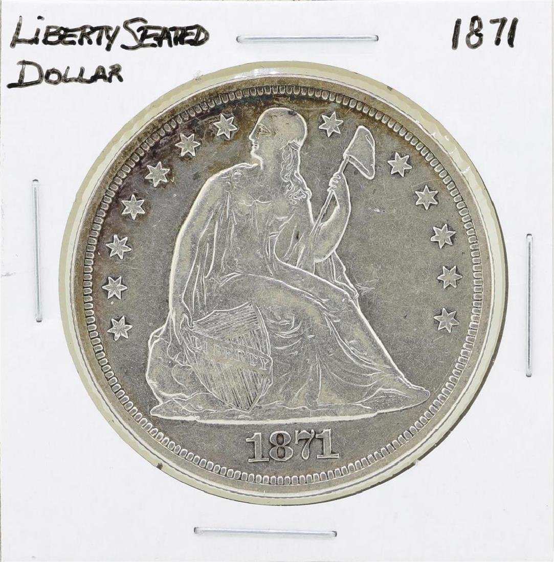 1871 $1 Seated Liberty Silver Dollar Coin
