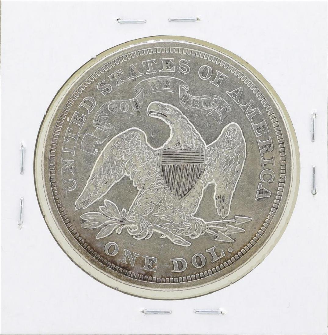 1871 $1 Seated Liberty Silver Dollar Coin - 2