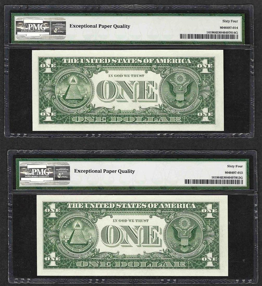 Lot of (2) Consecutive 1957 $1 Silver Certificate Notes - 2