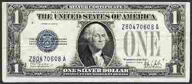 1928B 1 Funnyback Silver Certificate Note