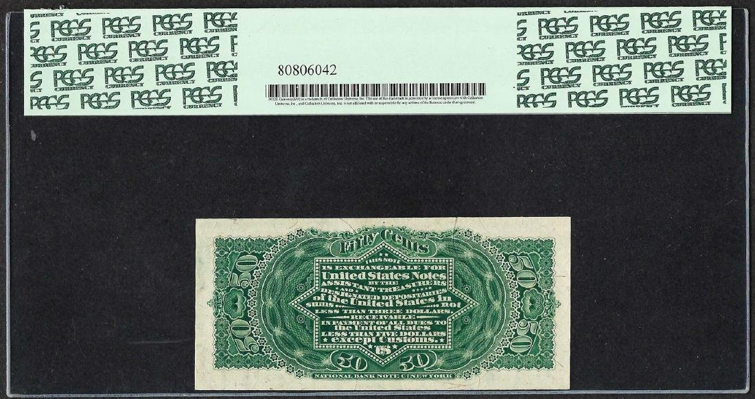 1863 Fourth Issue 50 Cents Fractional Currency Note - 2