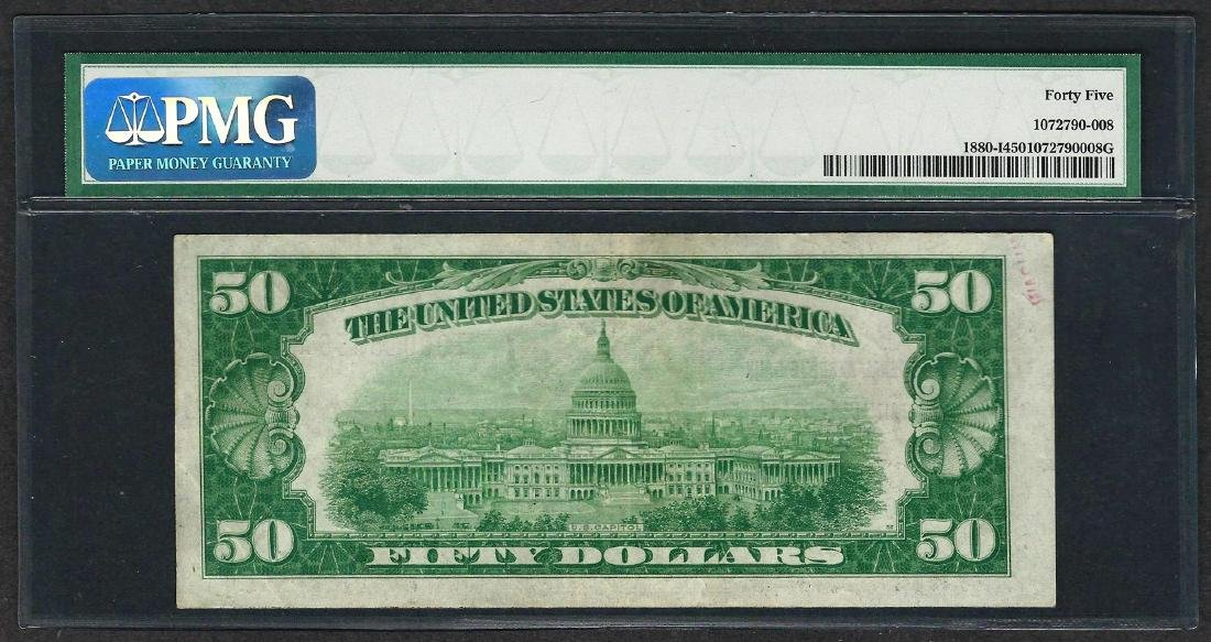 1929 $50 Federal Bank of Minneapolis Note Fr.1880-I PMG - 2
