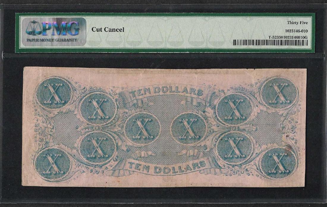 1862 $10 Confederate States of America Note T-52 PMG - 2