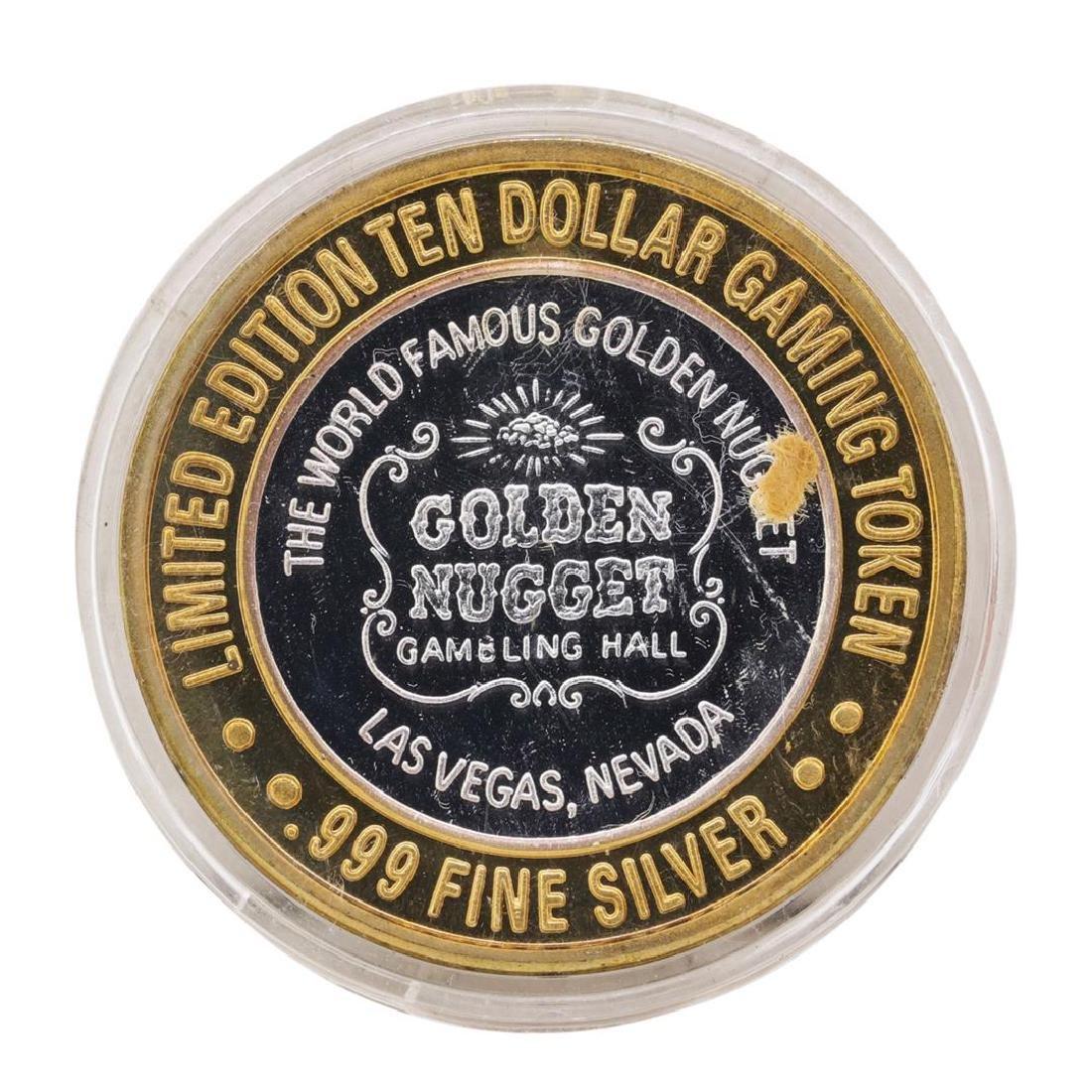 .999 Silver Golden Nugget Las Vegas, Nevada $10 Casino - 2