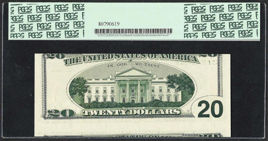 1996 $20 Federal Reserve Note Cutting ERROR PCGS Gem - 2