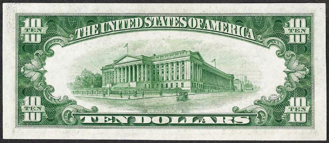 1934D $10 Silver Certificate Note - 2