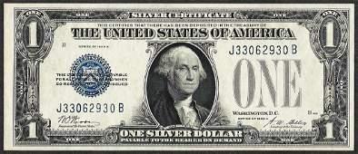 1928A 1 Funnyback Silver Certificate Note