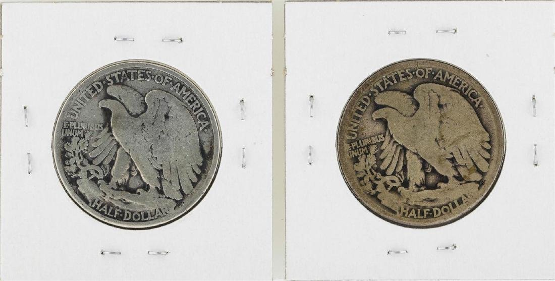 Lot of (2) 1916 Walking Liberty Half Dollar Silver - 2