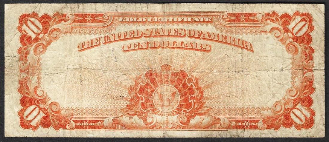 1922 $10 Gold Certificate Note - 2