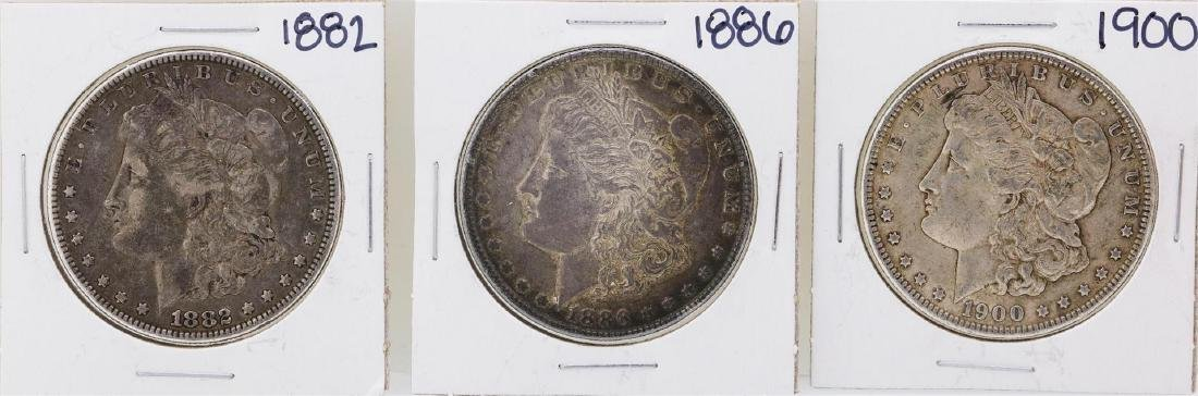 Lot of 1882, 1886, & 1900 $1 Morgan Silver Dollar Coins