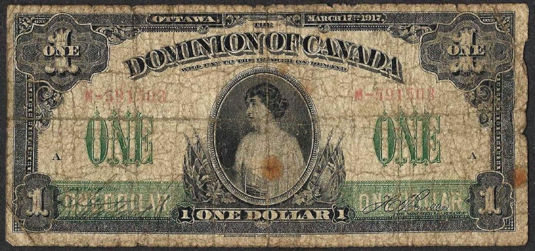 1917 $1 Dominion of Canada Note