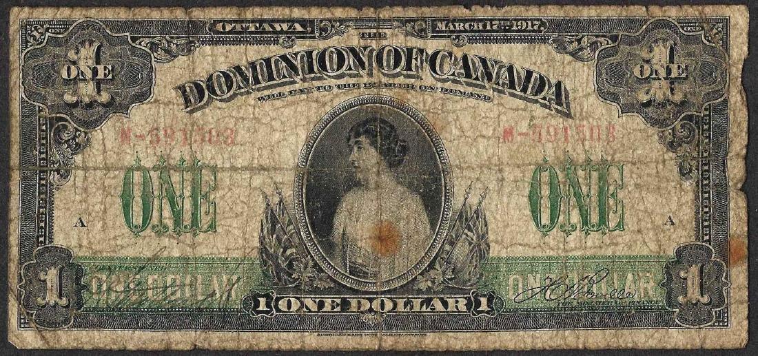 1917 $1 Dominion of Canada Note
