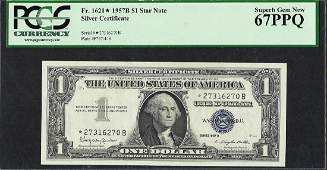 1957B $1 Silver Certificate STAR Note Fr.1621* PCGS