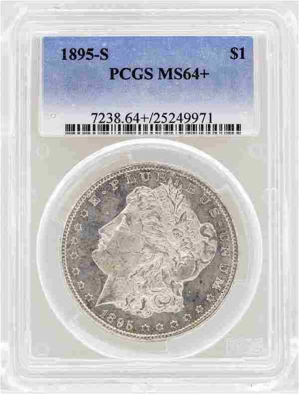 1895-S $1 Morgan Silver Dollar Coin PCGS MS64+
