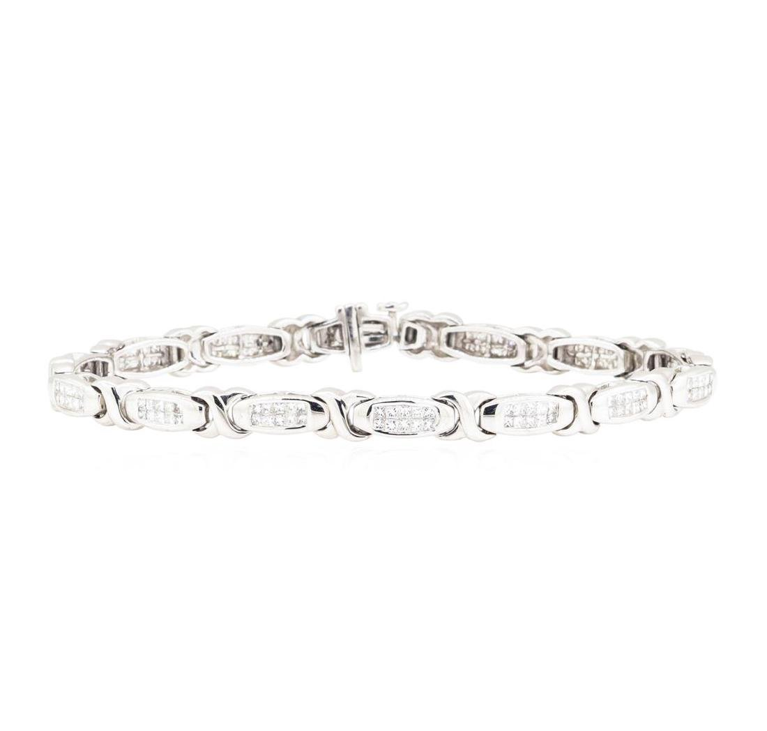 14KT White Gold 3.00 ctw Diamond Bracelet