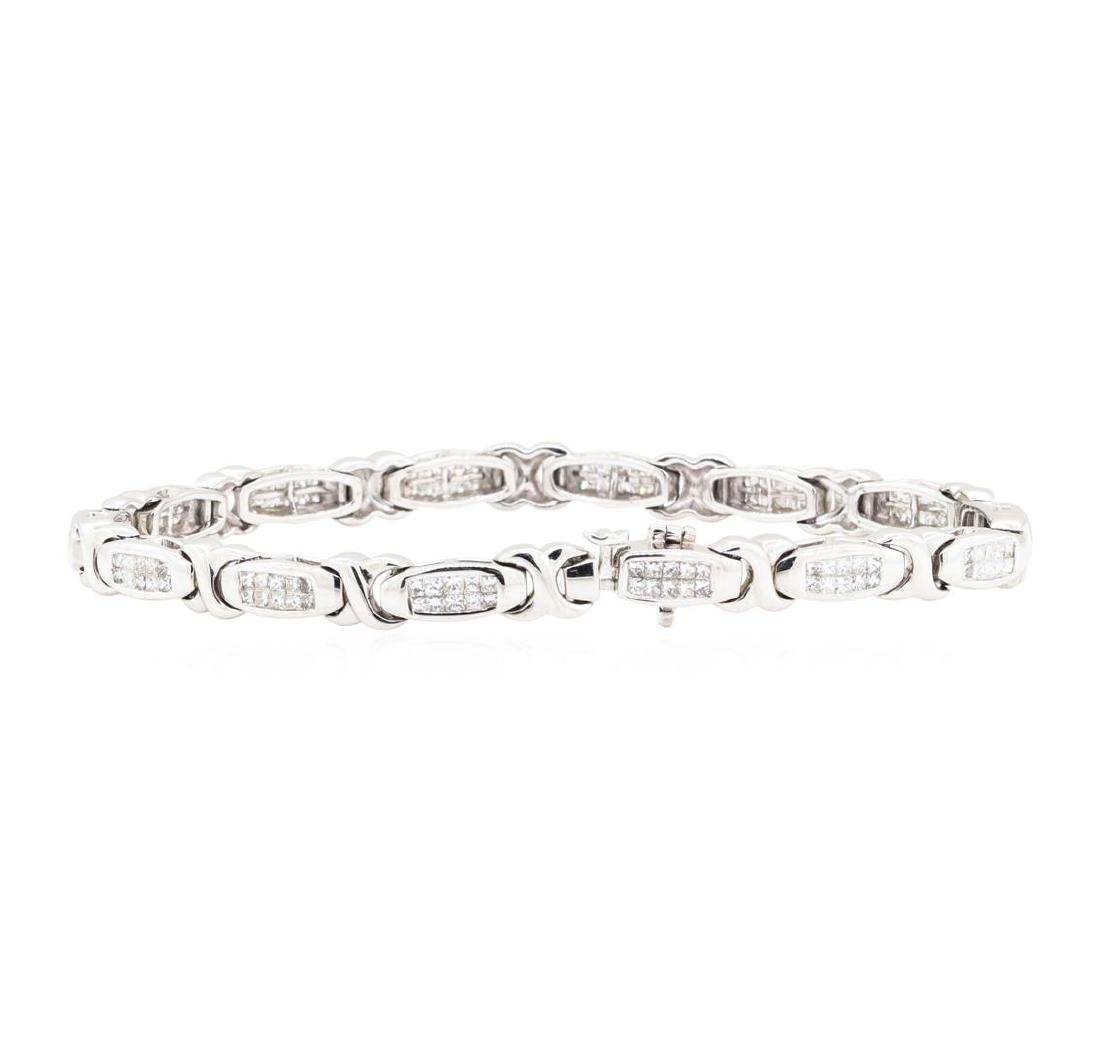 14KT White Gold 3.00 ctw Diamond Bracelet - 2