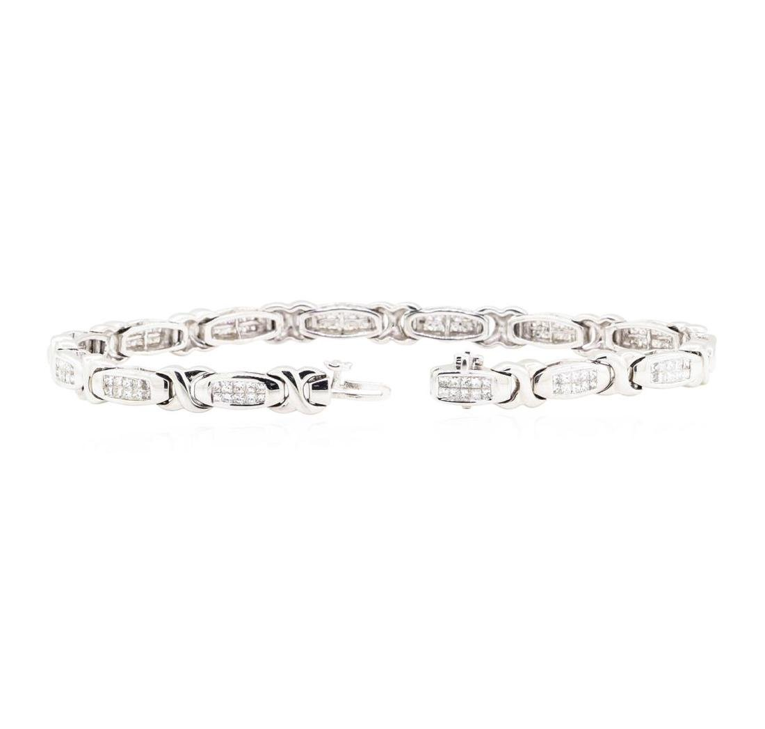 14KT White Gold 3.00 ctw Diamond Bracelet - 3