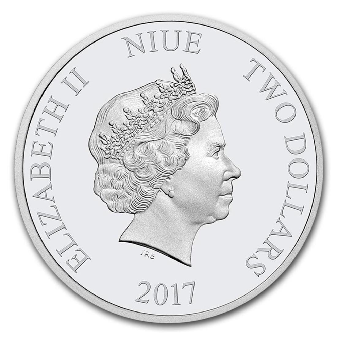 2017 Niue 1 oz Silver $2 Disney Love Coin - 2